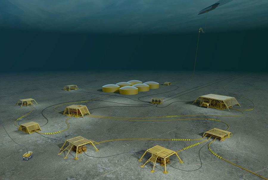 нефтяная база по добыче нефти в море