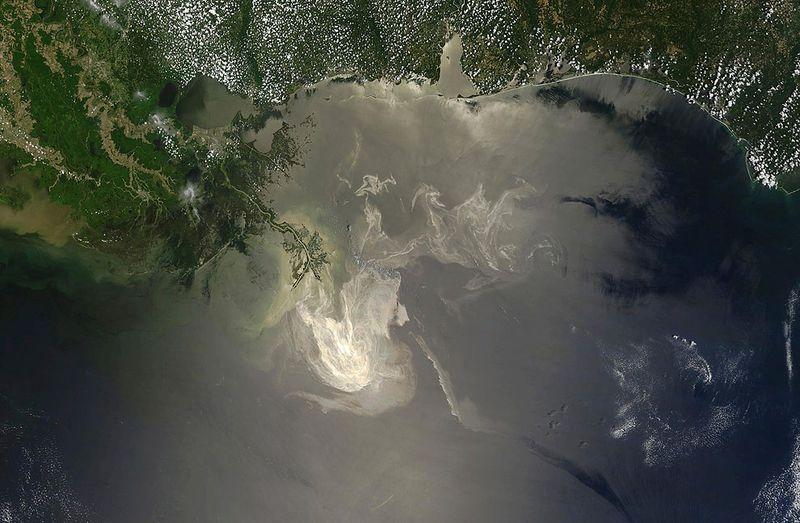 Пятно разлива нефти в мексиканском заливе 2010